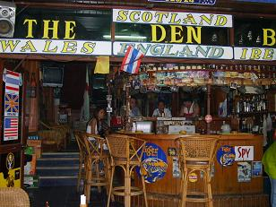 Den Bar Pattaya Beach Thailand